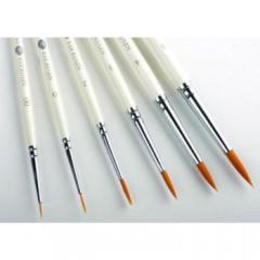 круглая: Кисть синтетическая круглая с длинной ручкой Невская Палитра №8 в Шедевр, художественный салон