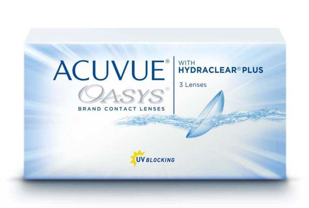 Контактные линзы: Контактные линзы Acuvue Oasys With Hydraclear Plus (3шт / 8.4) Johnson & Johnson в Лорнет