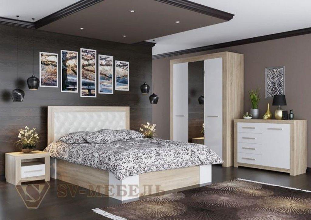 Мебель для спальни Лагуна-6: Кровать двойная (универсальная) (без матраца, без основания под матрац) Лагуна-6 в Диван Плюс