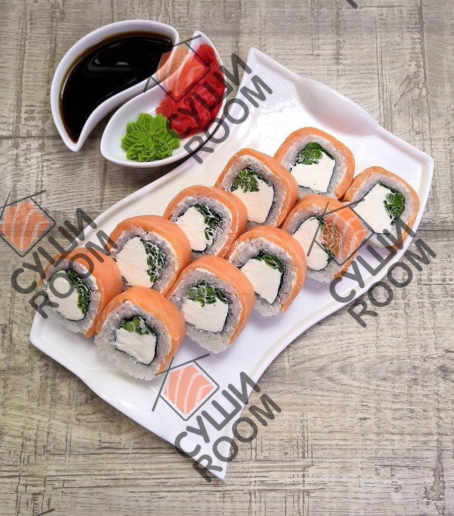 Роллы: Филадельфия с копченым лососем в Суши Room