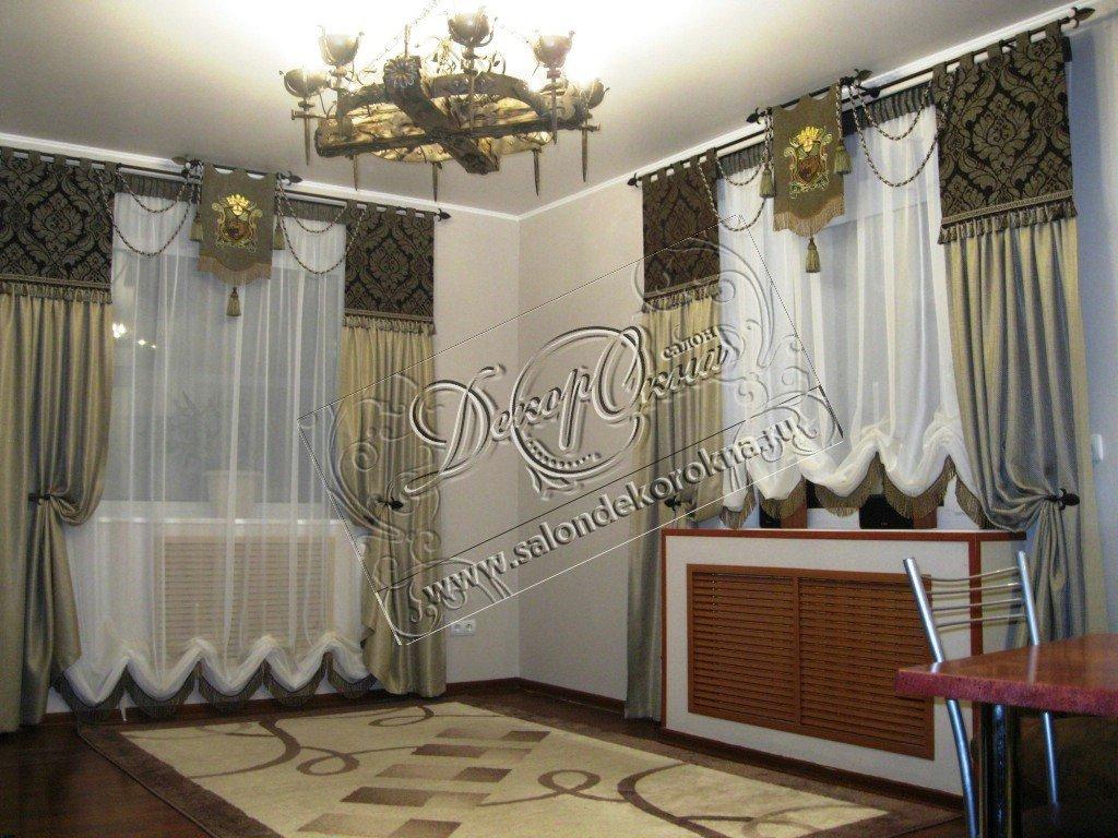 Вышивка: Вышивка на шторах в Декор окна, салон