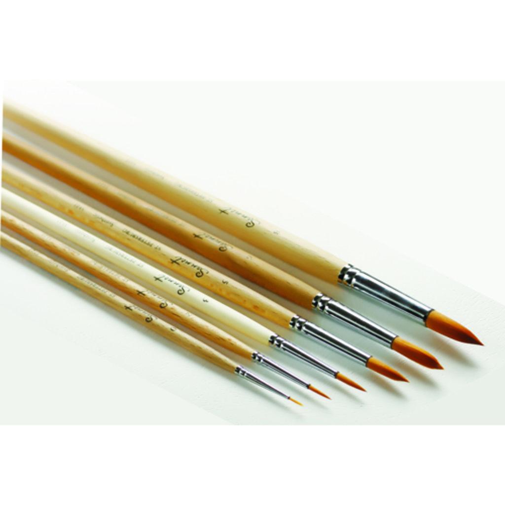 круглая: Кисть синтетическая круглая с длинной ручкой пропитанная лаком Сонет №8 в Шедевр, художественный салон
