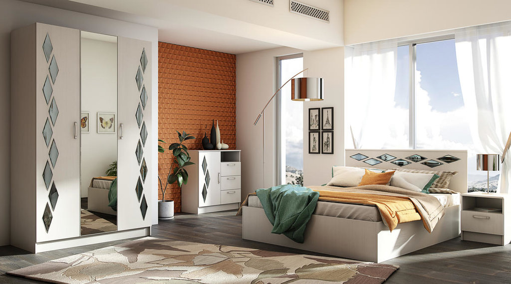 Модульная мебель в спальню Диана: Модульная мебель в спальню Диана в Стильная мебель