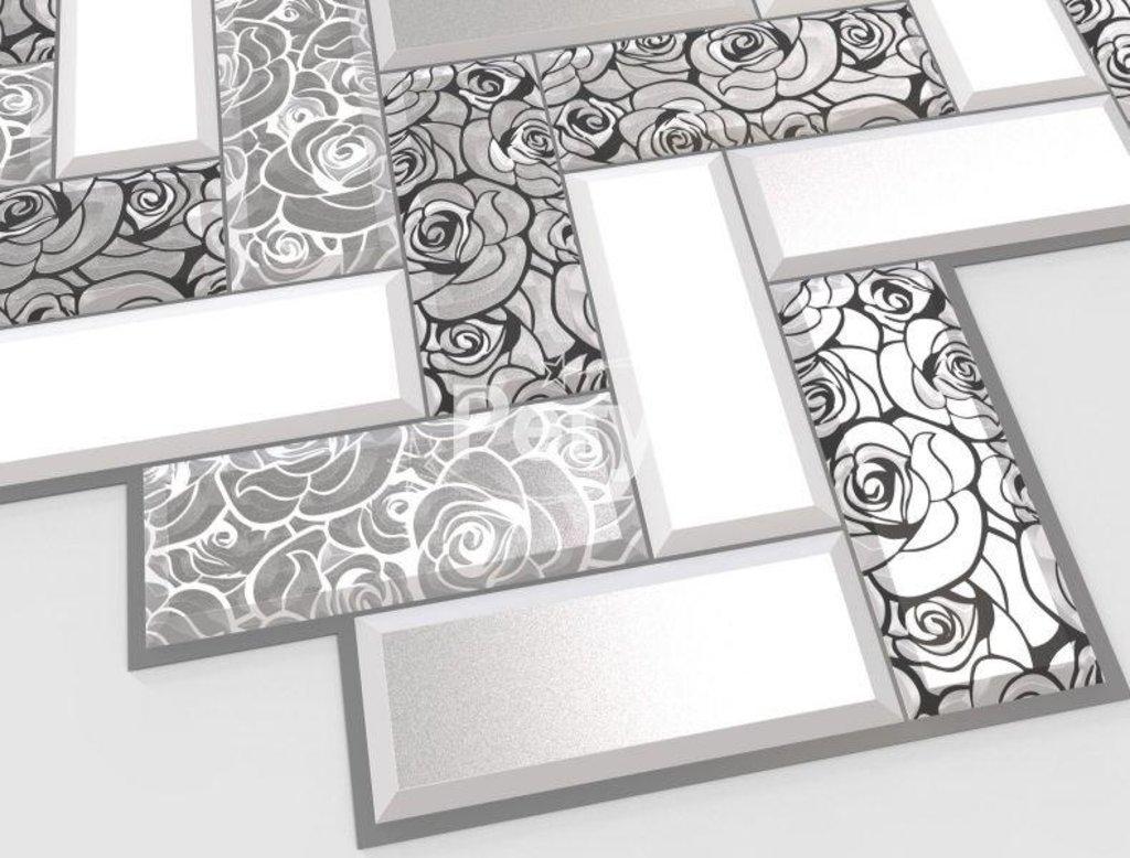 Панели ПВХ: Плитка Розы в серебре в Мир Потолков