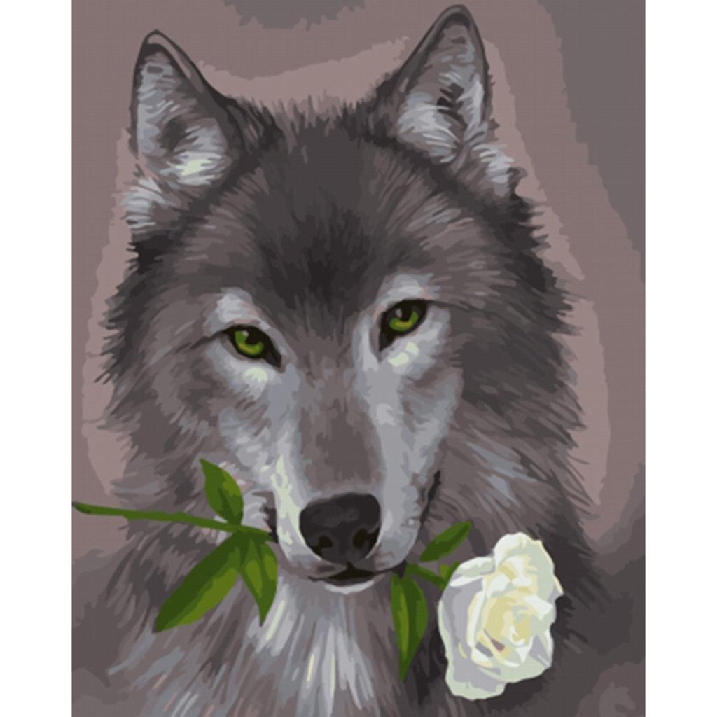 Картины по номерам: Картина по номерам Paintboy 40*50 Волк-романтик ОК 10113 Эксклюзив! в Шедевр, художественный салон