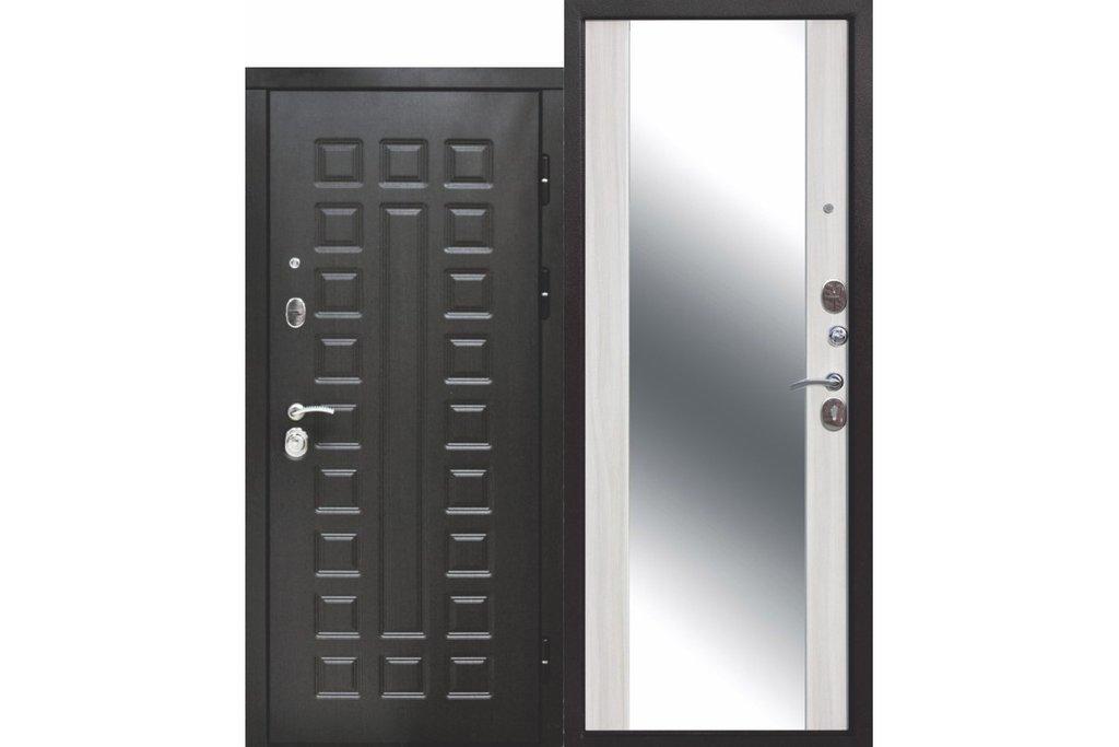 Двери Цитадель: Дверь входная металлическая Сенатор Зеркало 12 см в Салон дверей Доминго Ноябрьск