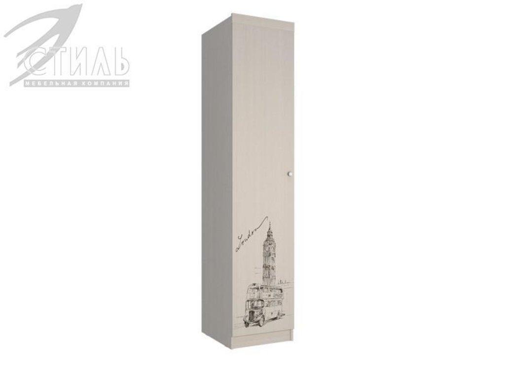 Мебель для детской Мийа - 3 (дуб молочный, фотопечать): Пенал П-303 Мийа - 3 в Диван Плюс