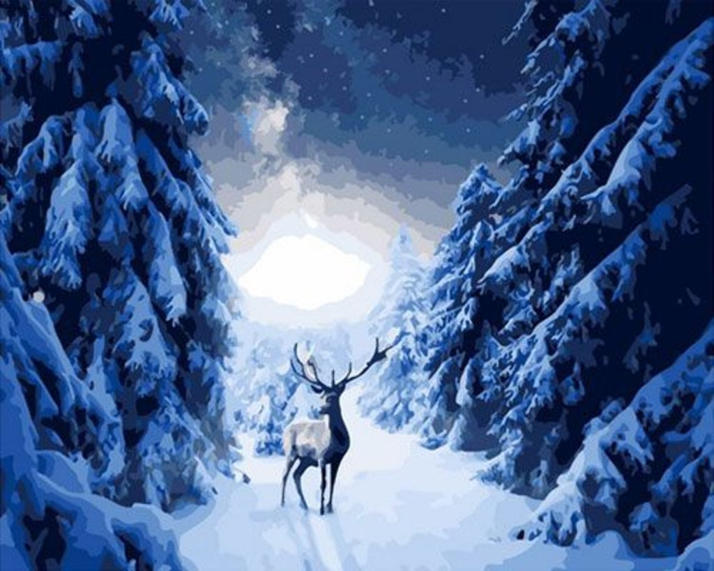 Картины по номерам: Картина по номерам Paintboy 40*50 ОК10898 Лесной олень в Шедевр, художественный салон