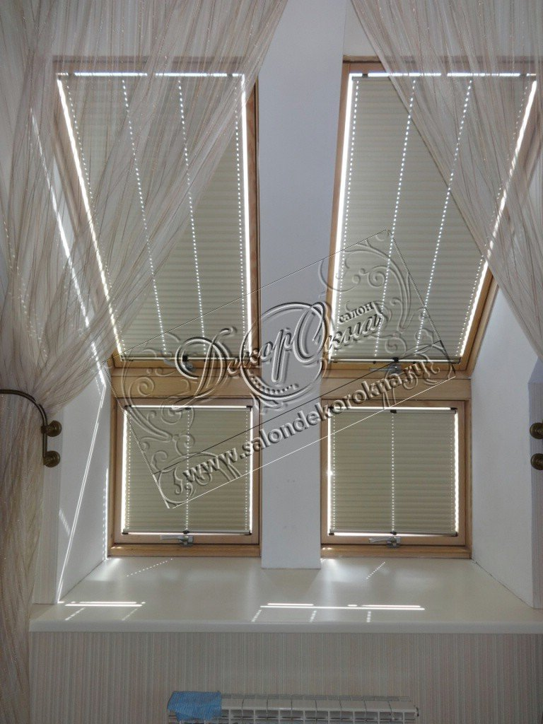 Плиссе: Плиссе для мансард и потолков в Декор окна, салон