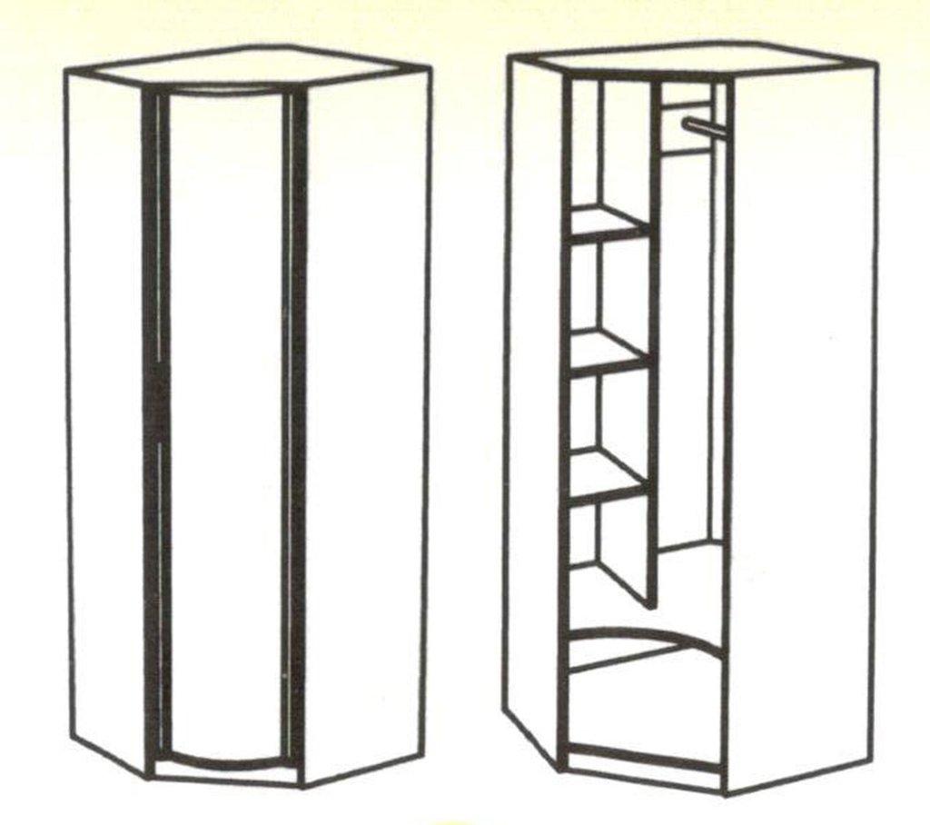 Шкафы для одежды и белья: Шкаф угловой с фотопечатью Кристина в Стильная мебель