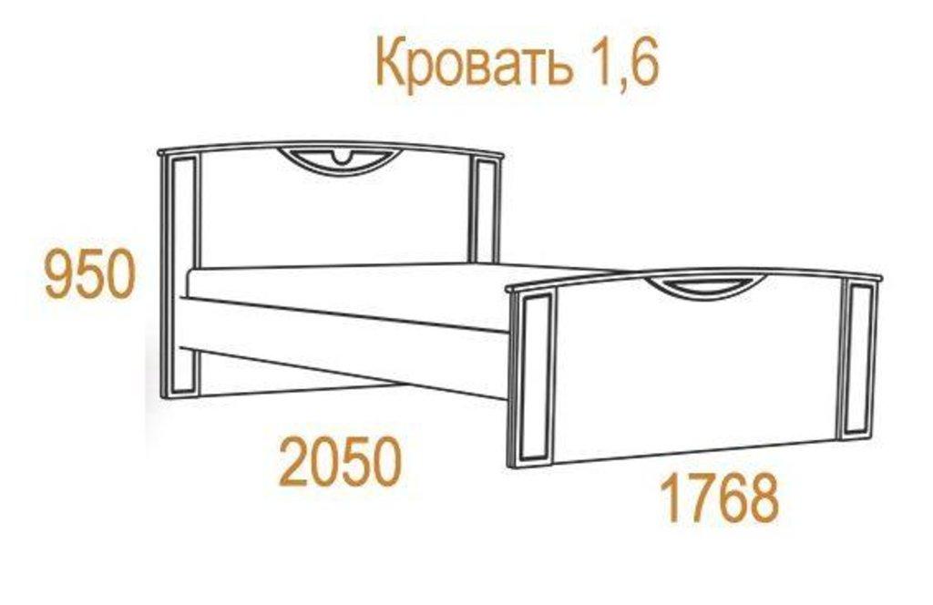 Комфорт-2 (спальня): Кровать Комфорт-2 (1600, орт. осн. металл) в Стильная мебель
