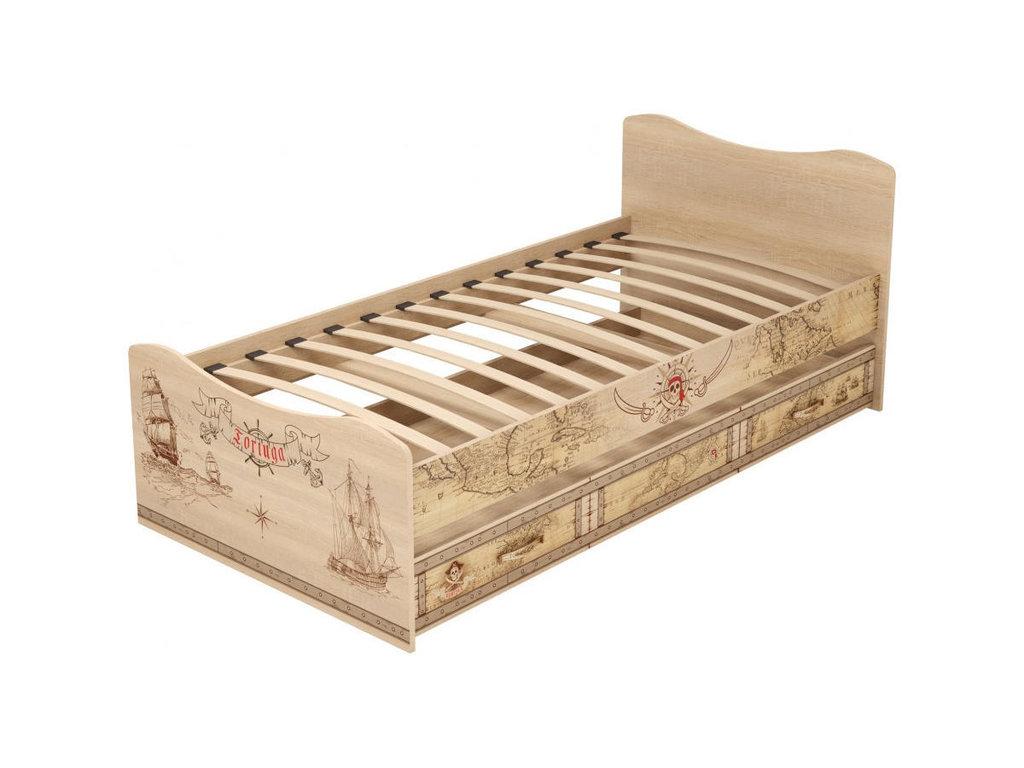 Детские и подростковые кровати: Кровать с ящиком (выдвижное спальное место) 04 Квест (90х190, усилен. настил) в Стильная мебель