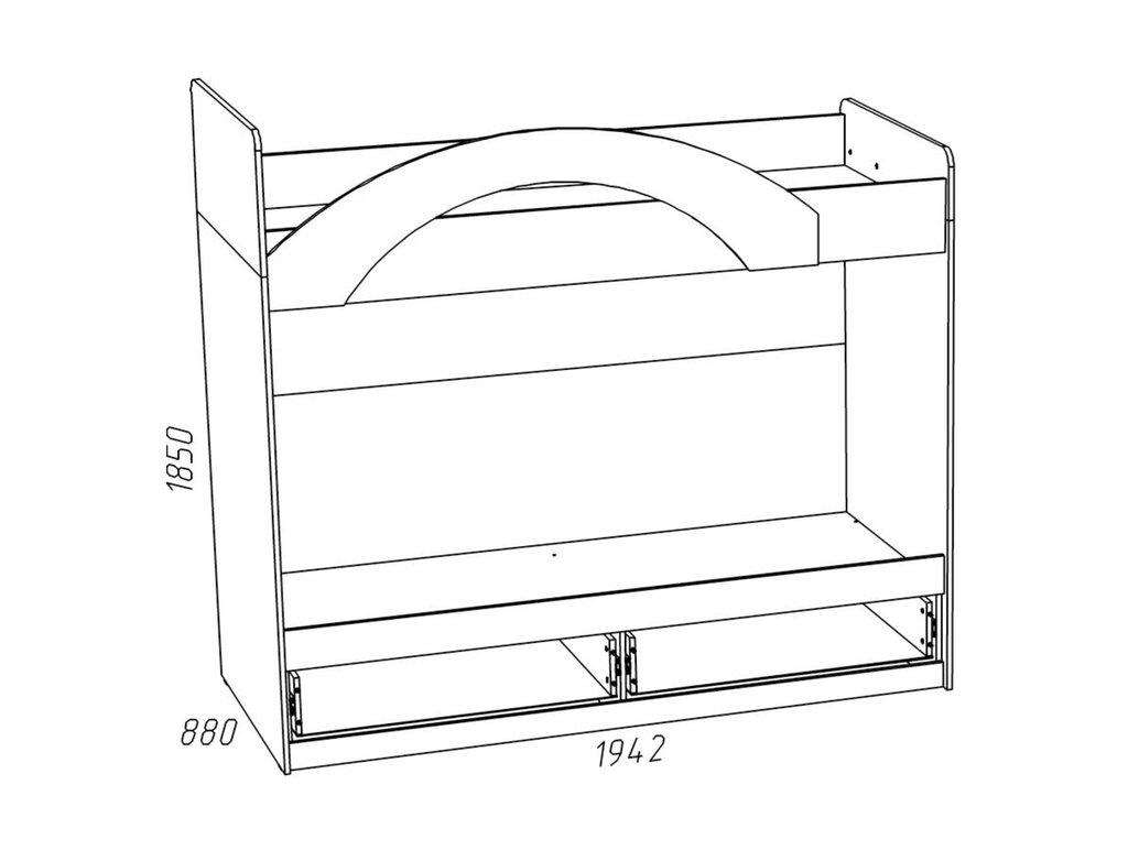 Детские и подростковые кровати: Кровать ИЧП 15-02 М3 Рико (800x1900, усилен. настил) в Стильная мебель