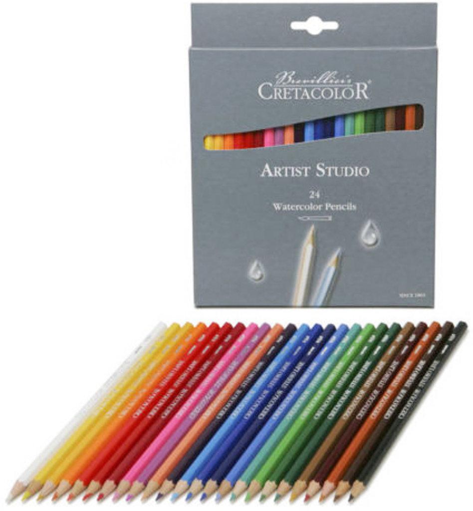 Акварельные карандаши: Акварельные цветные карандаши CRETACOLOR 24 цвета в Шедевр, художественный салон