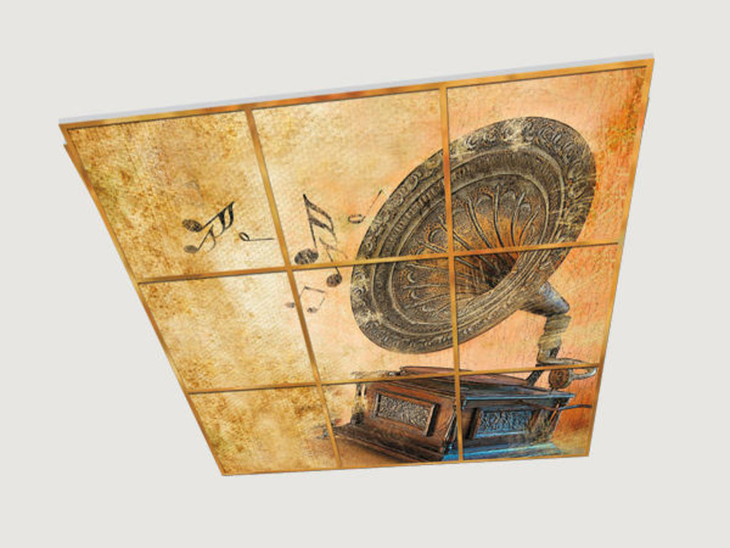 Витражные (стеклянные) потолки: Серия «Винтаж» в Мир Потолков