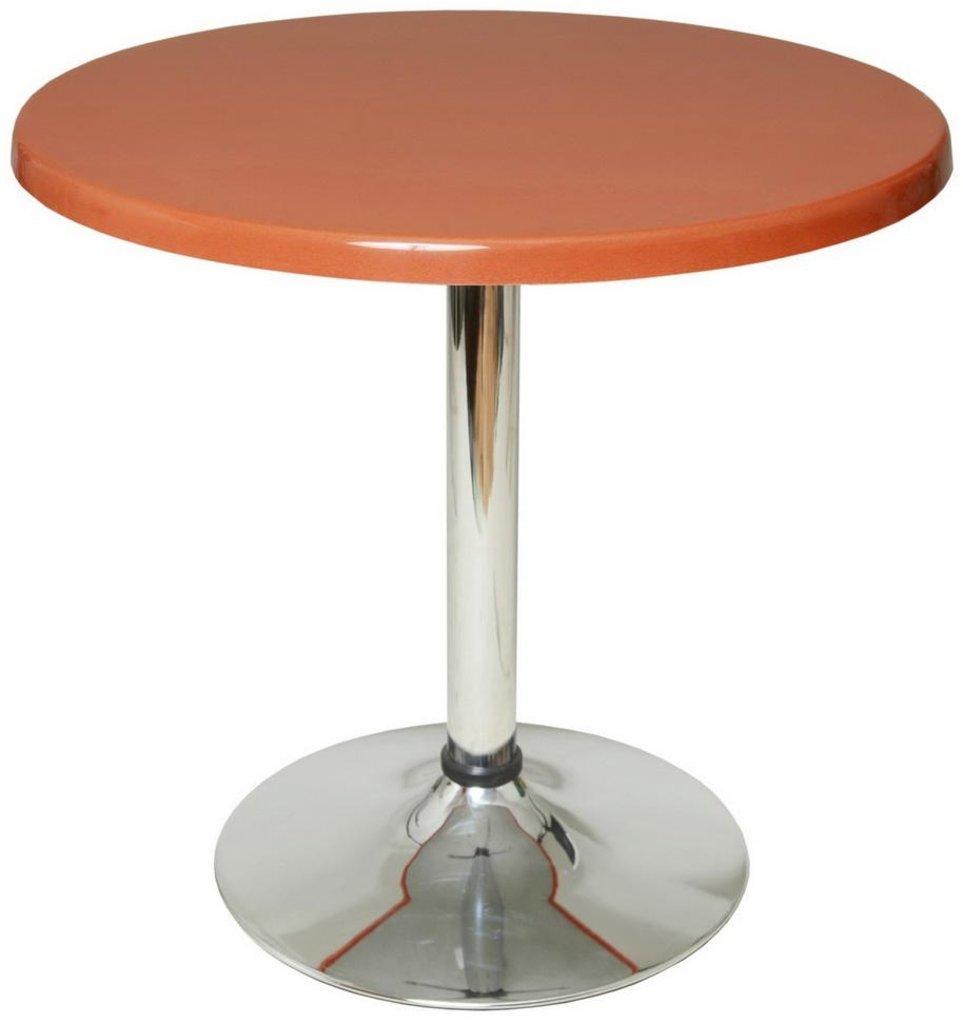 Столы для ресторана, бара, кафе, столовых.: Стол круг 80, подстолья 1005 ЕМ хром в АРТ-МЕБЕЛЬ НН