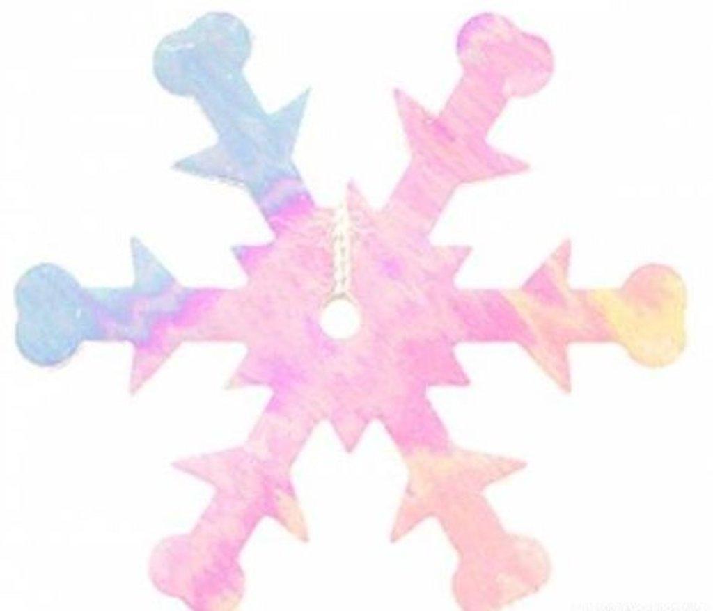 "Снежинки: Пайетки""снежинки""24мм.,упак/10гр.Астра(цвет:319 св.розовый перламутр) в Редиант-НК"