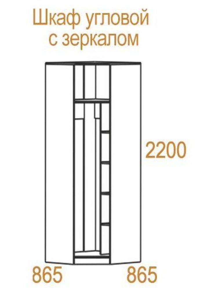 Шкафы для спальни: Шкаф угловой с зеркалом Николь в Стильная мебель