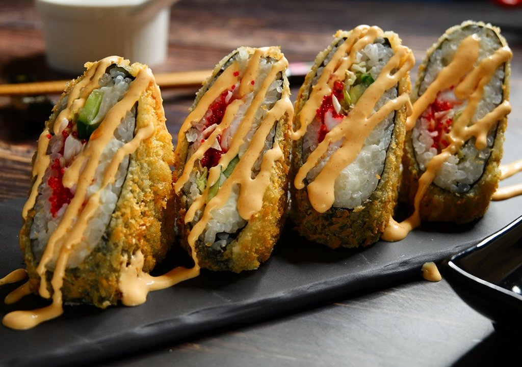 Сендвич роллы: Эби сендвич в СУШИ БАНДА