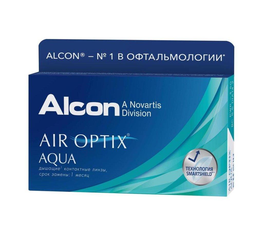 Контактные линзы: Контактные линзы AIR OPTIX AQUA (6шт / 8.6) ALCON в Лорнет