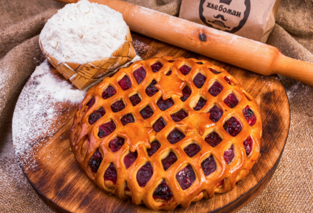 Сладкие пироги: Пирог с конфитюром черника в Хлебоман