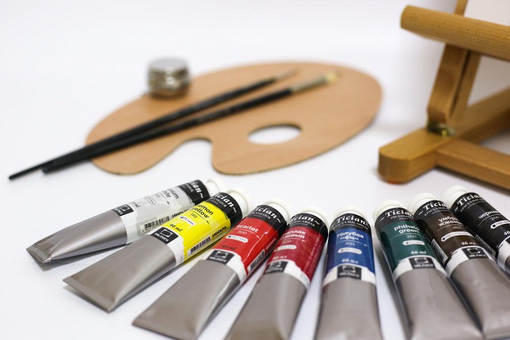 Мольберты: Стартовый набор для живописи маслом  ( с мольбертом МЛ-57 ) в Шедевр, художественный салон