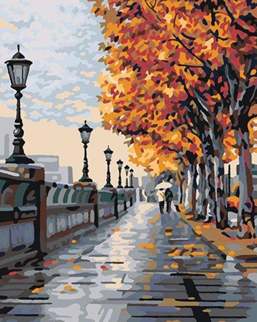 Картины по номерам: Картина по номерам Paintboy 40*50 КА00093 Осенняя прогулка в Шедевр, художественный салон