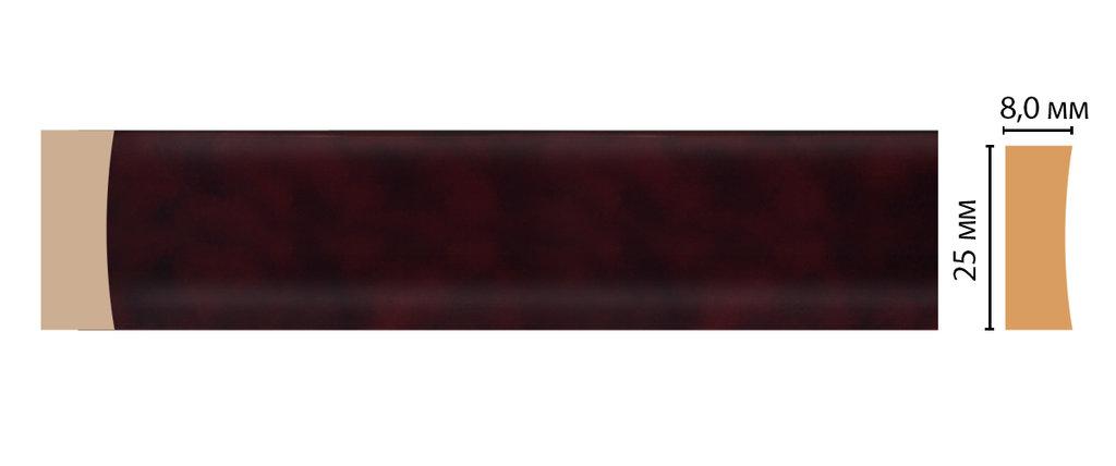 Молдинги: Цветной молдинг DECOMASTER D046-62 (25*8*2400) в Мир Потолков
