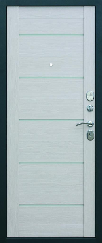 Входные двери (премиум)  от 90-110мм: Входная дверь  ТРОЯ Серебро Царга в Пластиковые окна в Сургуте STEKLOMASTER