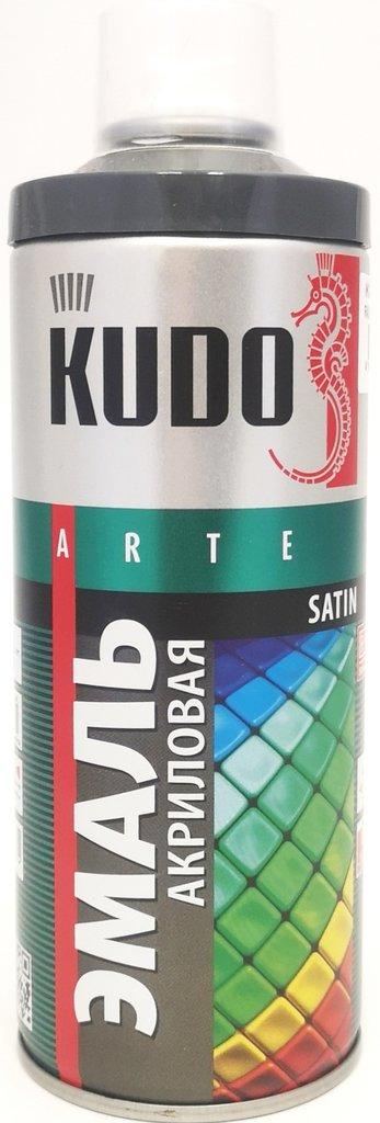 Универсальные: Краска-спрей акриловая KUDO темно-серая RAL 7011 в Шедевр, художественный салон