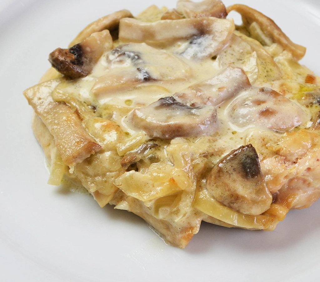 Горячее: Курица с грибами и соусом Песто в Провиант