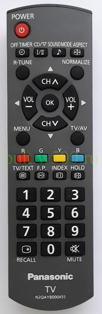 PANASONIC: Пульт Panasonic N2QAYB000455 (LCD) оригинал в A-Центр Пульты ДУ