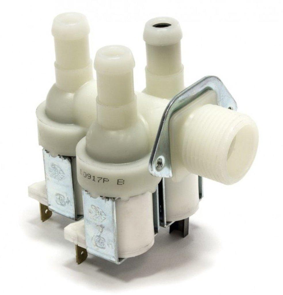 Клапана электрические наливные (КЭН): Электроклапан (клапан наливной электромагнитный - КЭН) 3Wx90, D-13.5mm, 1-выход с жиклером, для стиральных машин в АНС ПРОЕКТ, ООО, Сервисный центр