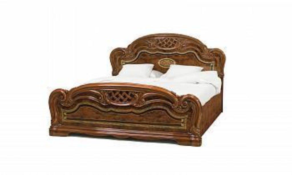 Кровати: Кровать 1,6 с решеткой орех Лара в Стильная мебель