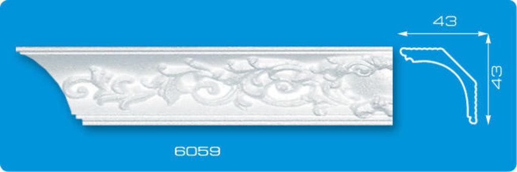 Плинтуса потолочные: Плинтус потолочный ФОРМАТ 6059 инжекционный длина 1,3м, средний в Мир Потолков