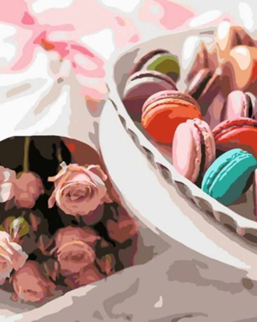 Картины по номерам: Картина по номерам Paintboy 40*50 ОК10291 Цветы и печенье в Шедевр, художественный салон