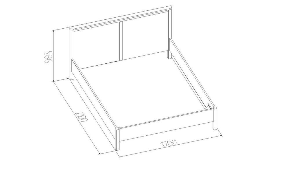 Кровати: Кровать Sherlock 42 (1600, орт. осн. дерево) в Стильная мебель