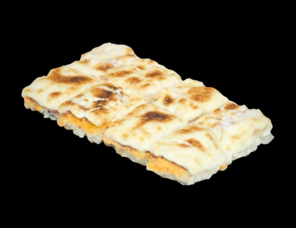 Запеченные роллы: Рисовая пицца с беконом в ХИТО СУШИ