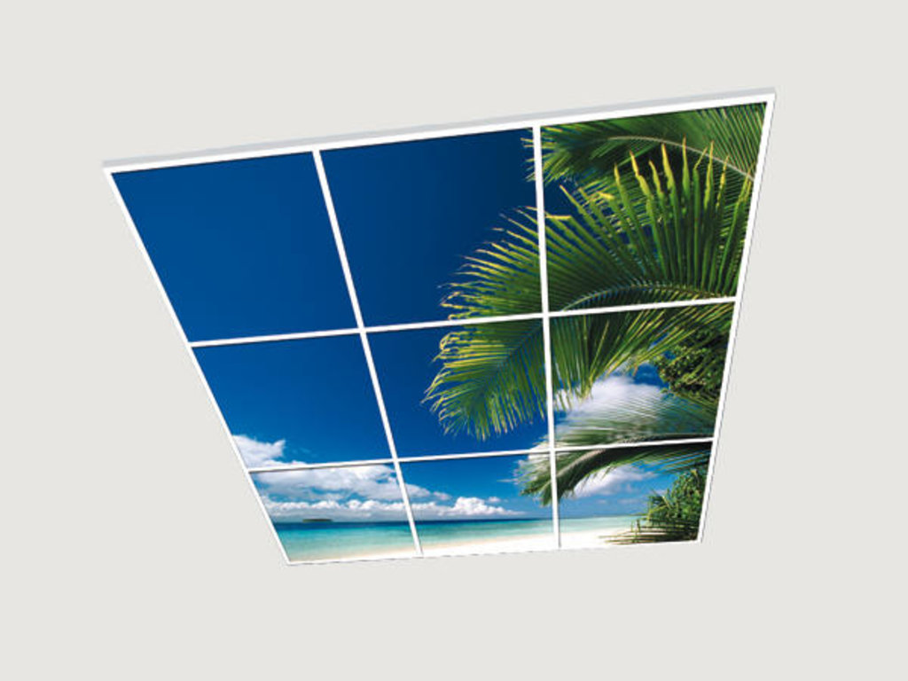 Витражные (стеклянные) потолки: Серия «Баунти» в Мир Потолков