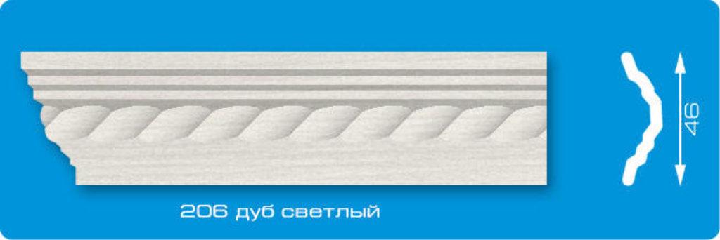 Плинтуса потолочные: Плинтус потолочный ЛАГОМ Ламинированный 206 дуб светлый экструзионный длина 2м в Мир Потолков