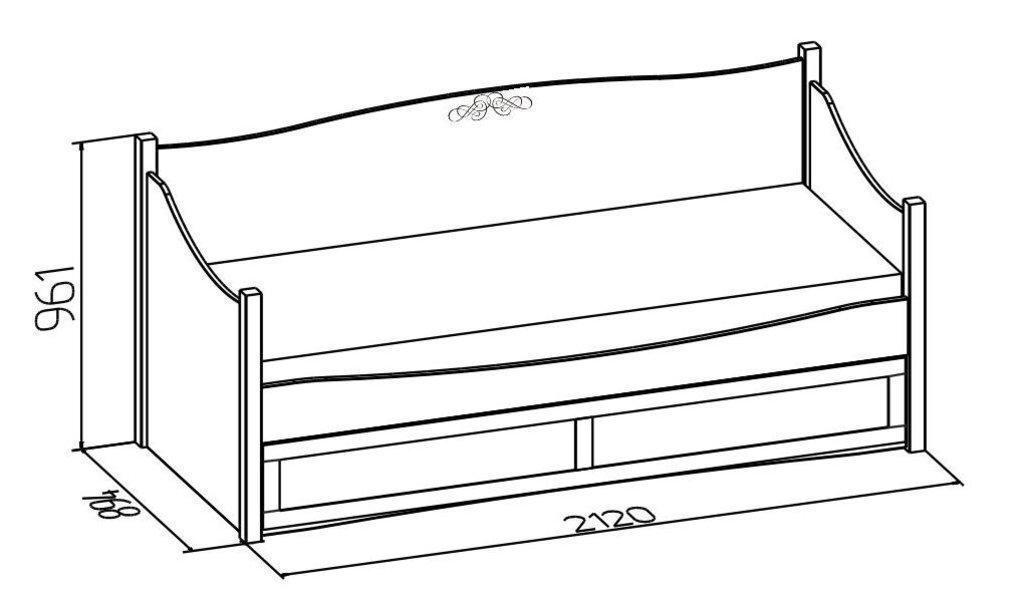 Детские и подростковые кровати: Кровать подростковая ADELE 80 (800x1950, усилен. настил) в Стильная мебель