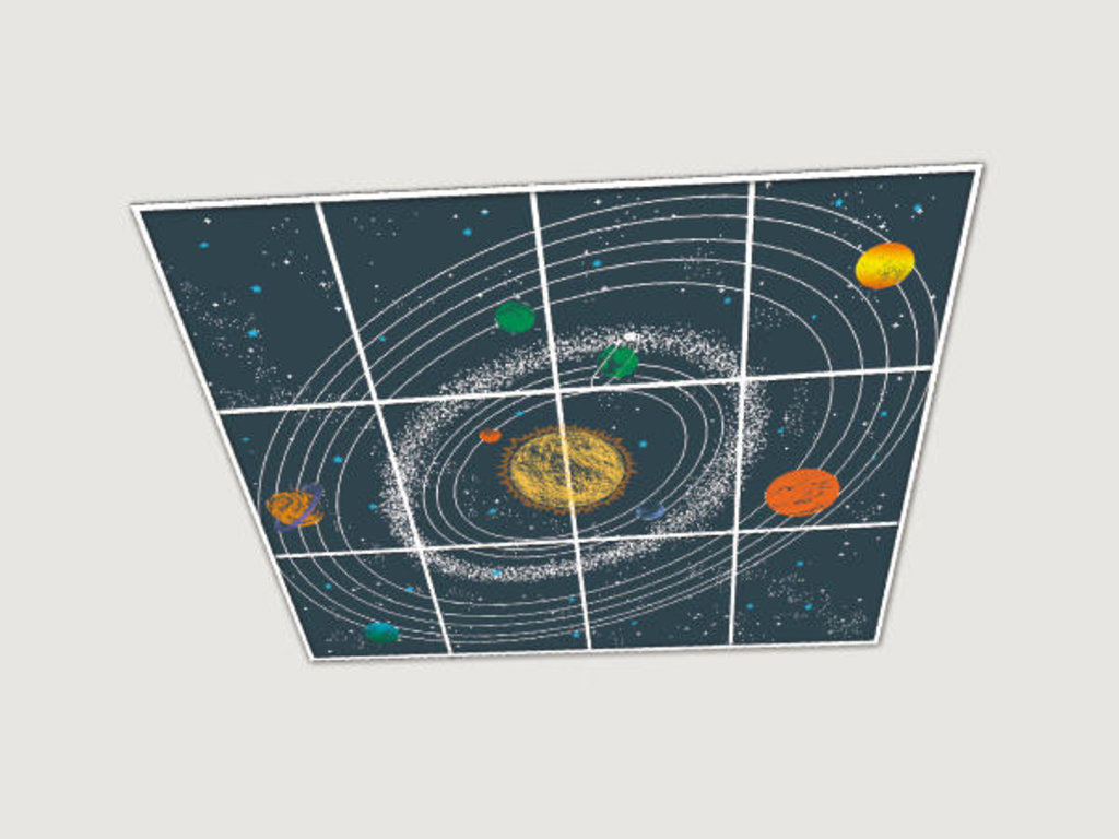 Зеркальные потолоки: Композиция «Солнечная Система» в Мир Потолков
