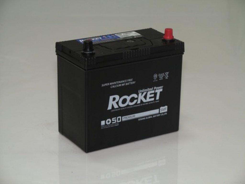 Аккумуляторы автомобильные: ROCKET SMF SUPER +50 55 (75 B 24) L в Мир аккумуляторов