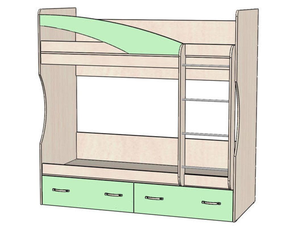 Детские и подростковые кровати: Кровать 2-х ярусная Буратино (800х1860, настил) в Стильная мебель