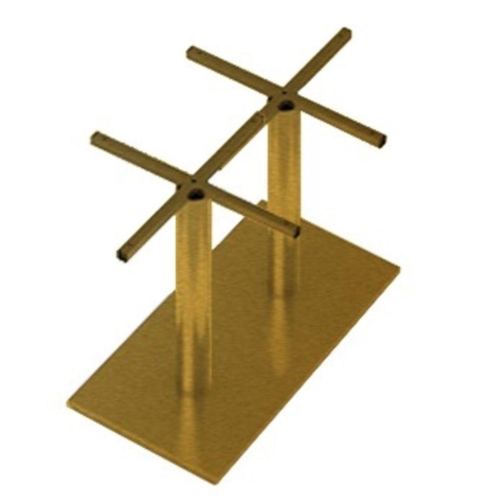 Подстолья для столов.: Подстолье 04 ST 76/715 (металлик, чёрный, коричневый, золото) в АРТ-МЕБЕЛЬ НН