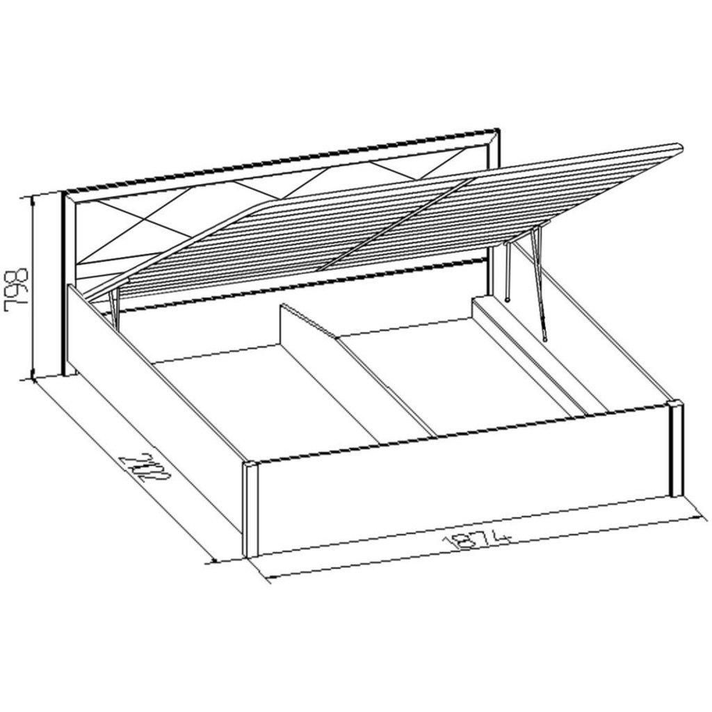Кровати: Кровать Марсель 31.2 (1800, мех. подъема) в Стильная мебель