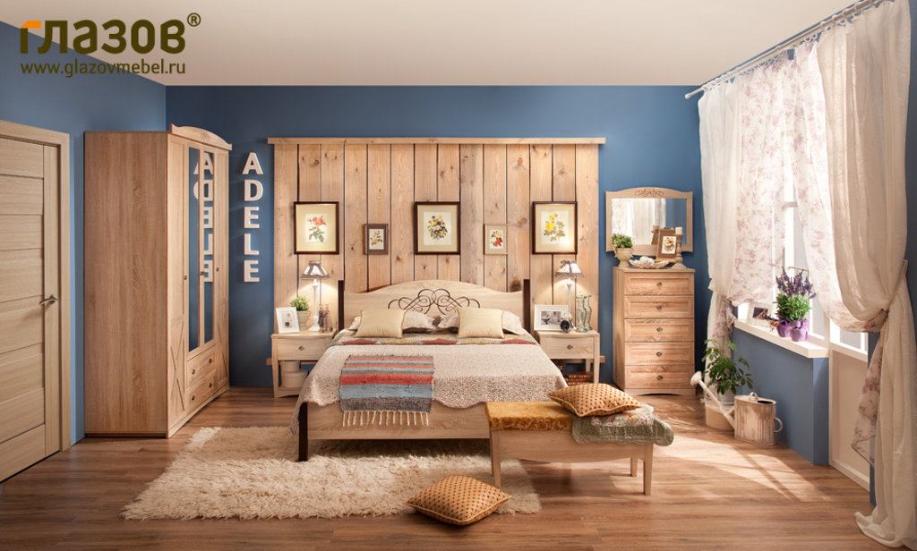 Кровати: Кровать ADELE 3 (1400, орт. осн. дерево) в Стильная мебель