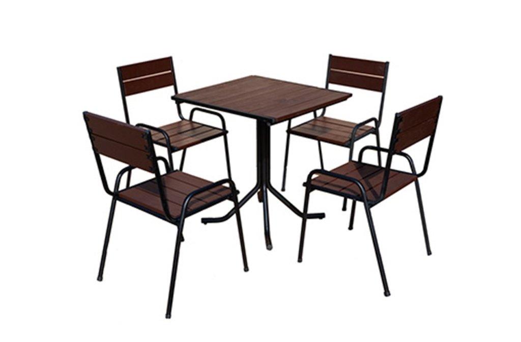 Комплекты мебели для летних кафе и ресторанов.: Обеденная группа SF-1 (чёрное) в АРТ-МЕБЕЛЬ НН