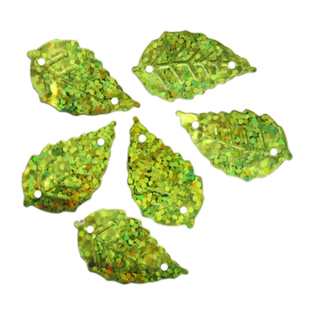 """Листочки: Пайетки""""листочки""""13*25мм.,упак/10гр.Астра(цвет:50105 светло зеленый голограмма) в Редиант-НК"""
