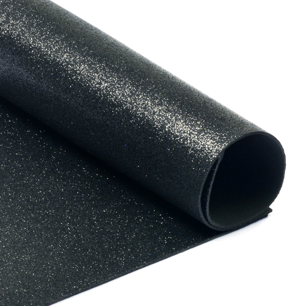 Фоамиран: Фоамиран глиттерный 2мм 20*30см чёрный, 1 лист в Шедевр, художественный салон